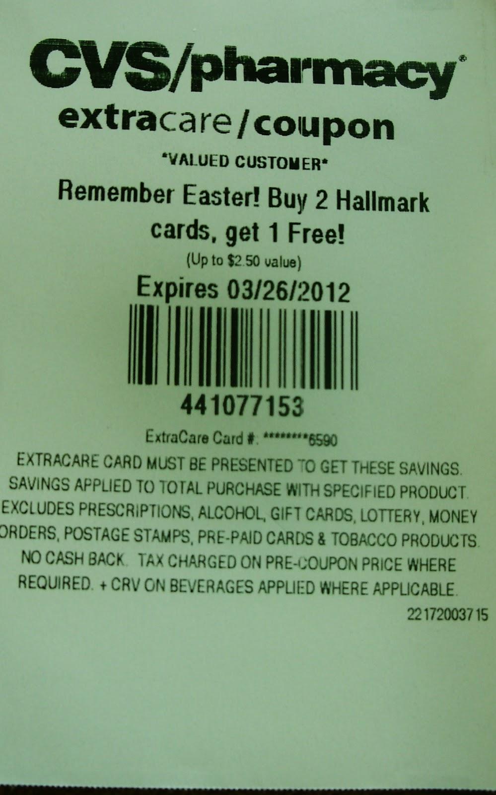 3 Free Hallmark Cards Cvs