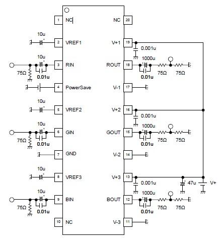Video amplifier using njm41045 circuit diagram video amplifier using njm41045 ccuart Choice Image