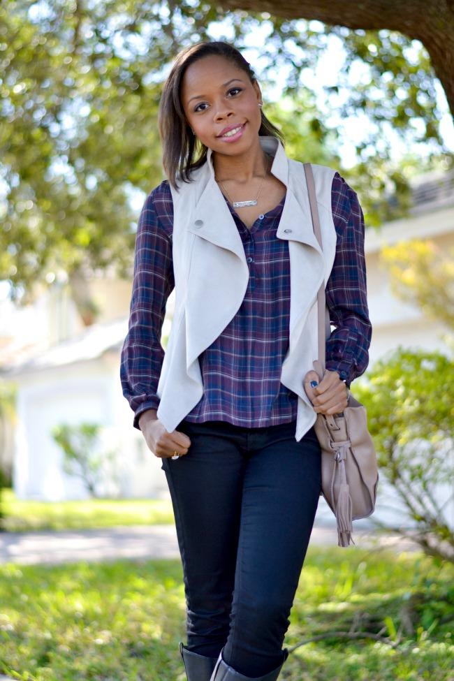 Vest & Plaid   Outfit Ideas   Layers