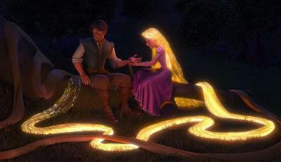 Rapunzel berambut emas dan panjang