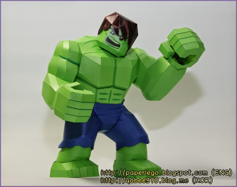 Lego Hulk Paper Craft (Yobee's Paper Toy)