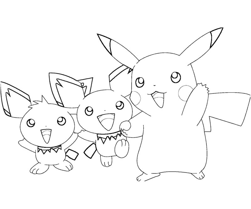 Raichu and pikachu coloring pages for Pichu coloring pages