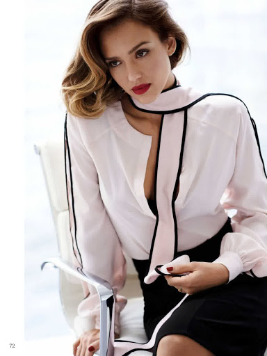 Jessica Alba Glamour Magazine Netherlands November 2015 photos