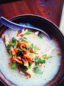 Chicken Porridge with ginger and salted fish