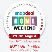 Snapdeal :Home Weekend Sale : Buy To Earn