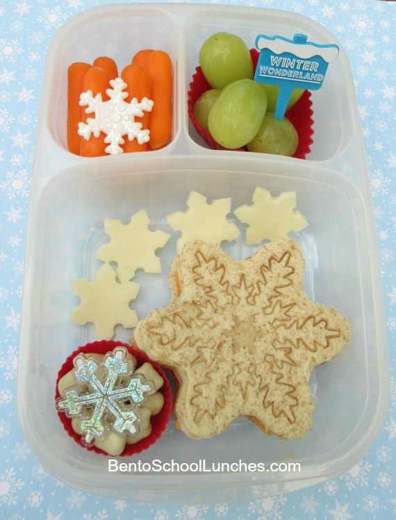 Snowflake bento lunch