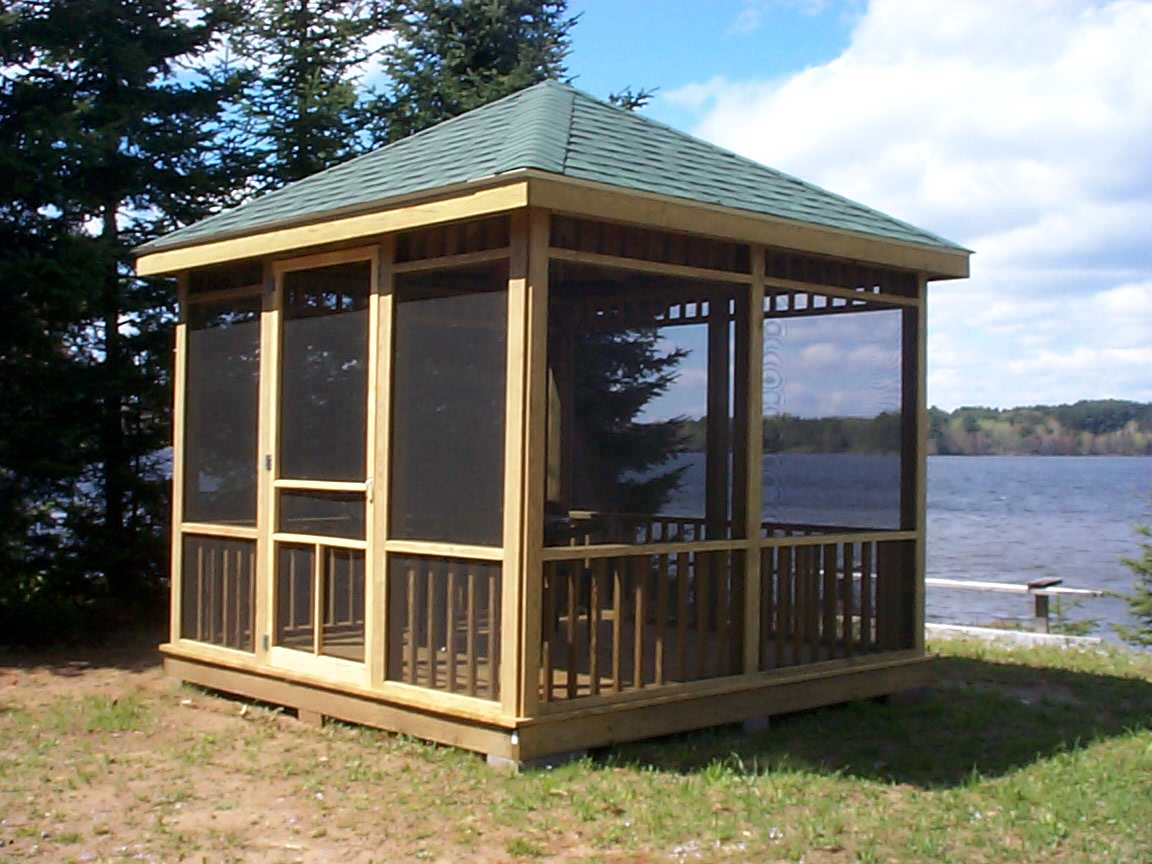 How to create a comfortable gazebo at home home garden for Screen room plans