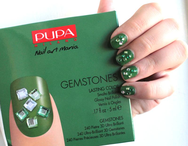 Pupa gemstone verde