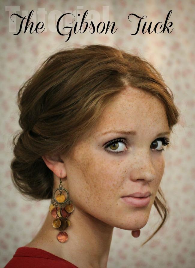 The Freckled Fox Hair Tutorial The Gibson Tuck