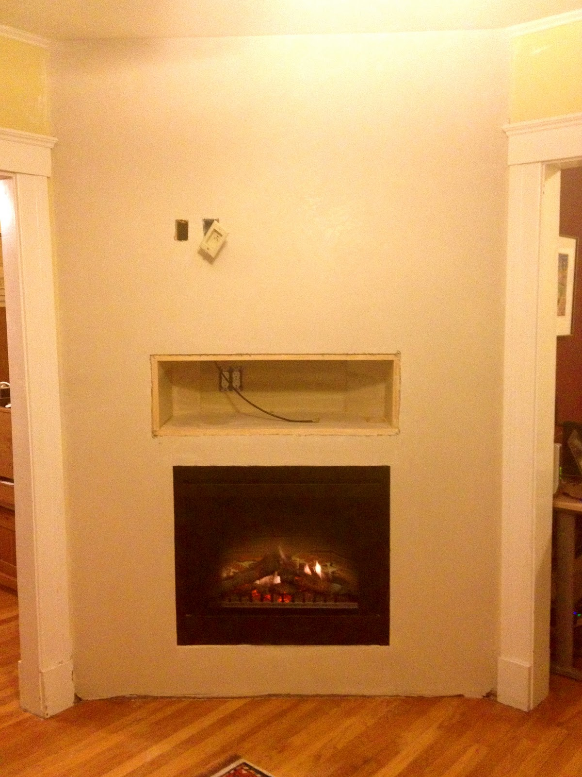 llc build out for a built in electric fireplace in arlington ma