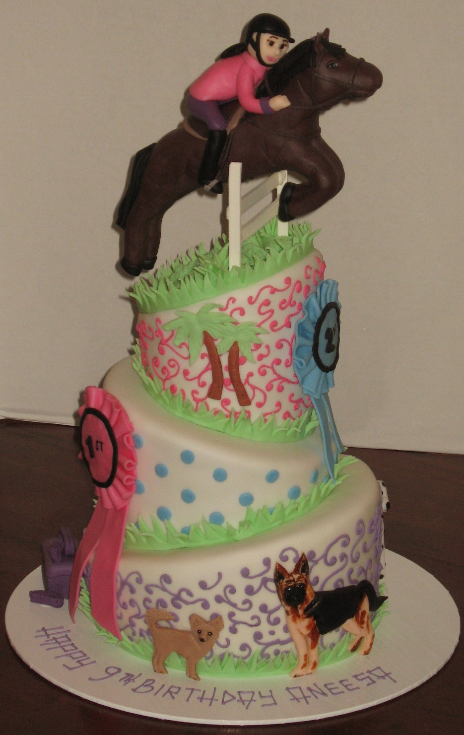 Let Them Eat Cake Three Tier Show Jumping
