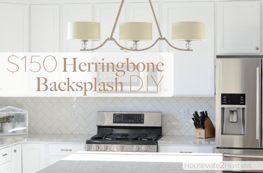 herringbone backsplash