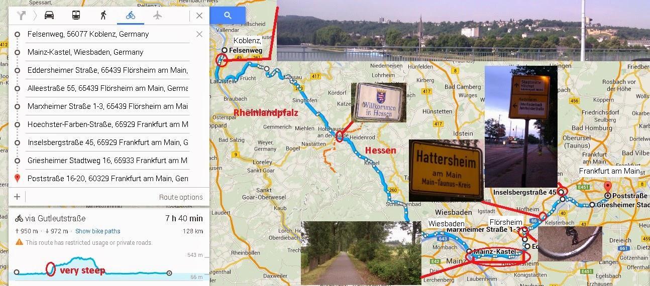 Biking path from Mainz to Frankfurt