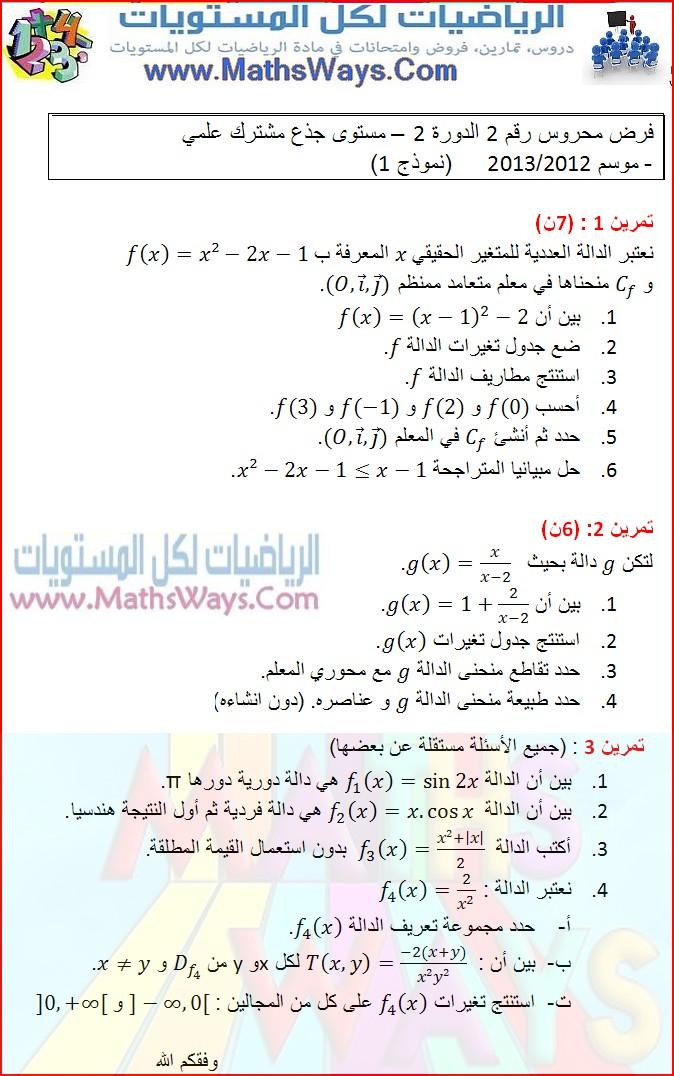 فرض محروس الدوال العددية