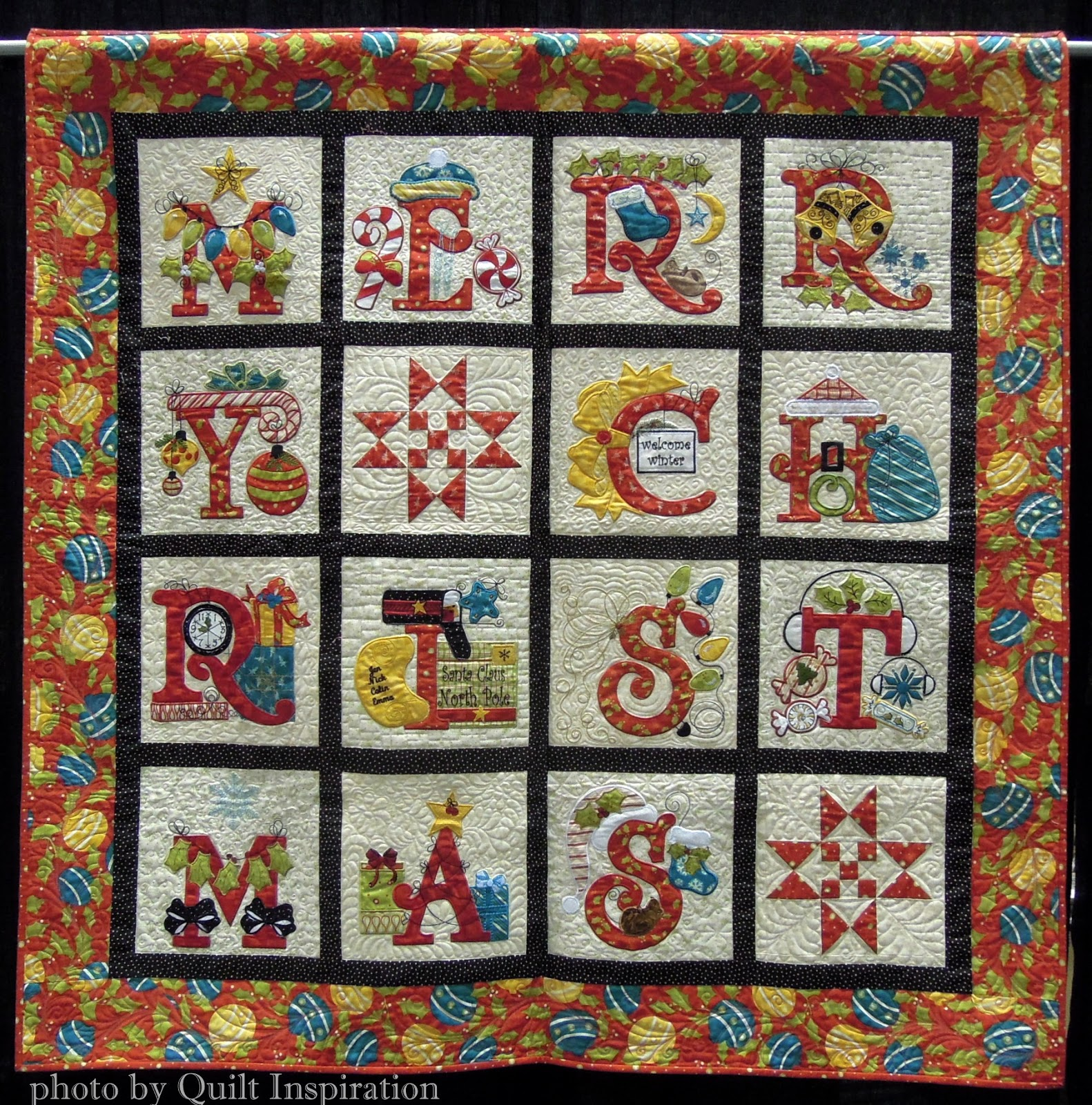 Quilt Inspiration Twelve Days Of Christmas Quilts Merry Christmas