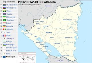 NICARAGUA  por provincias  2012