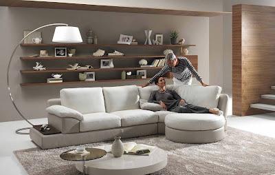 2013 Elegant Living Room With Unique Floor Lamp