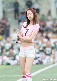 Im Yoona Korean Cute Girl Singer Sexy Photo at Namyangju Central Football Game 26