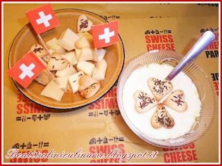 fondue di gruyère per la swiss cheese parade
