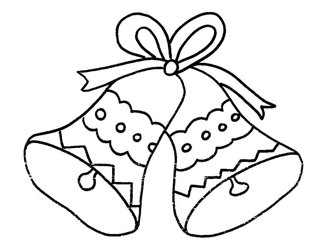 Dibujos para colorear de Campanas de navidad | Trato o truco