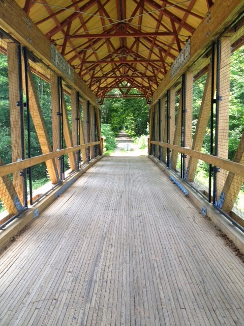covered bridge rail trail interior