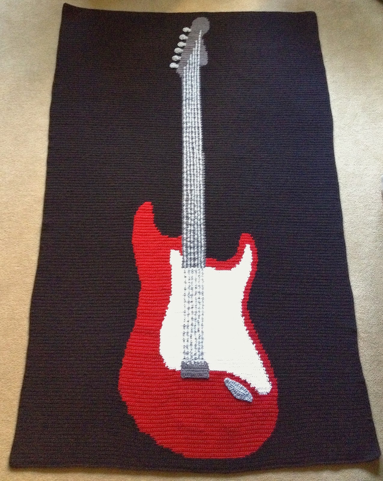 Free Pattern Crochet Guitar : Illuminate Crochet: Dandy Dans Rad Rock Blanket