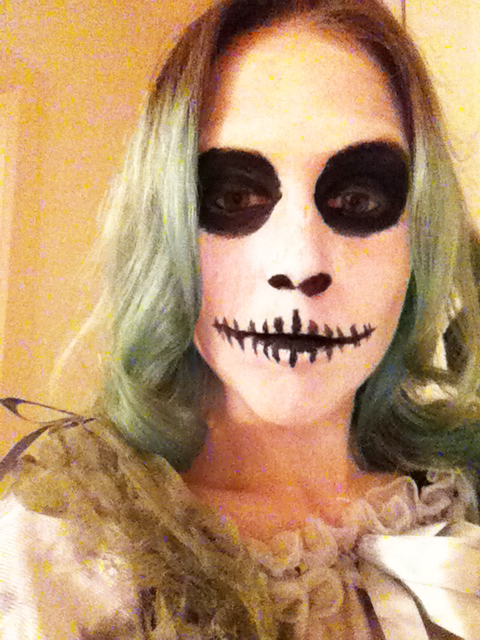 scary doll from the Nightmare before Christmas halloween make up