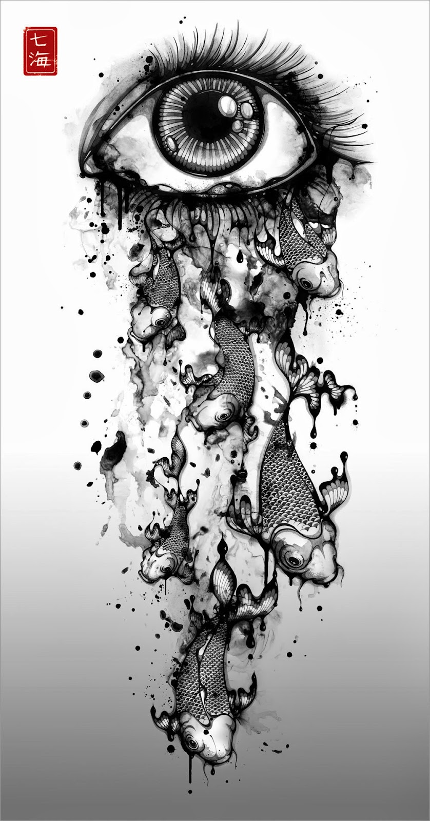 09-Ink-Tears-Nanami-Cowdroy-Splashes-of-Ink-Drawings-www-designstack-co