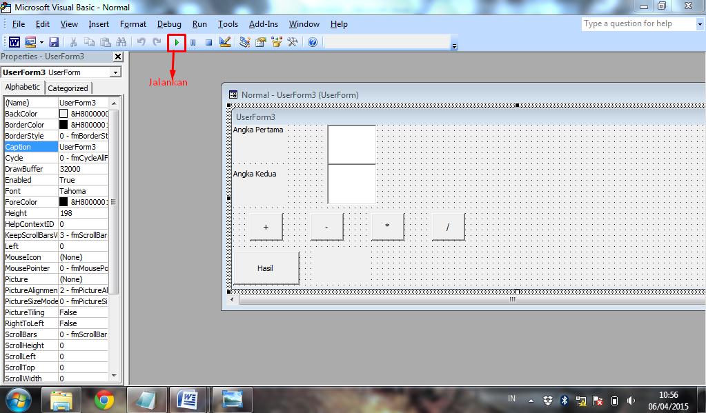 Membuat Kalkulator Menggunakan Microsoft VisualBasic