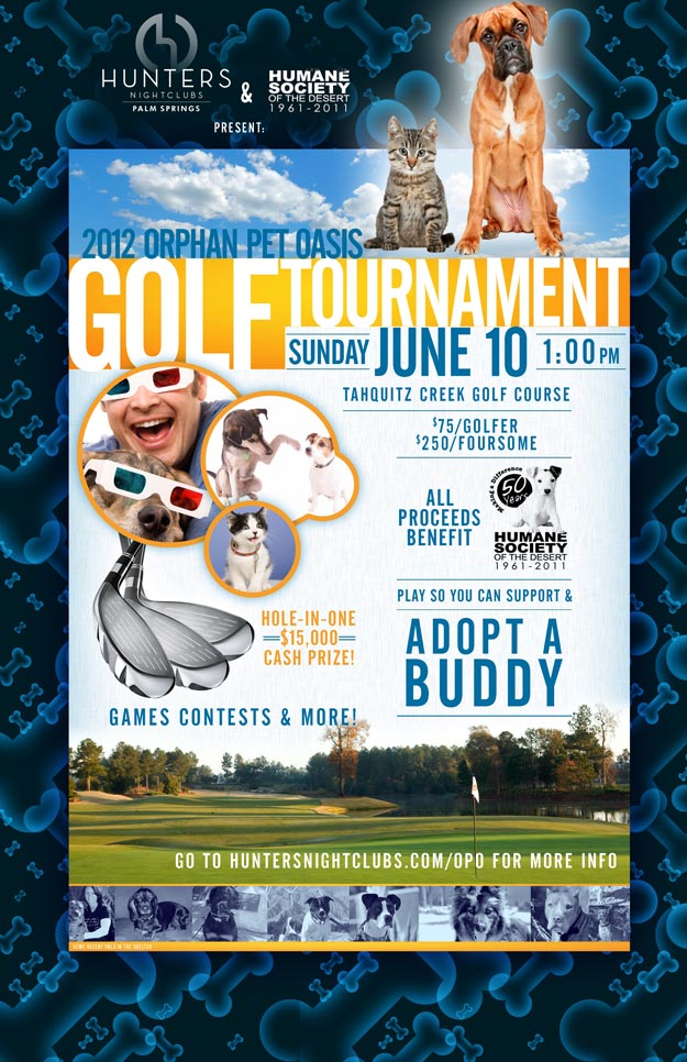 June 10 - Orphan Pet Oasis Golf Tournament 1pm Tahquitz Golf Course