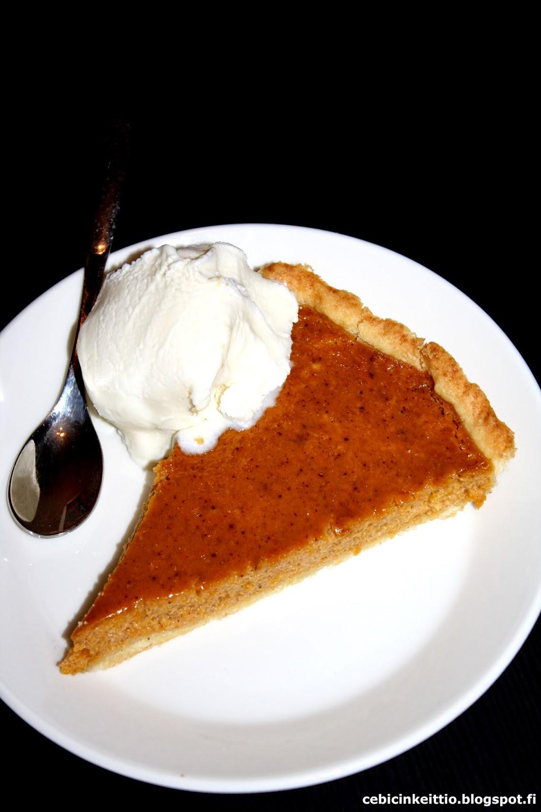 Cebicin keittiössä Kurpitsapiirakka (Pumpkin pie)