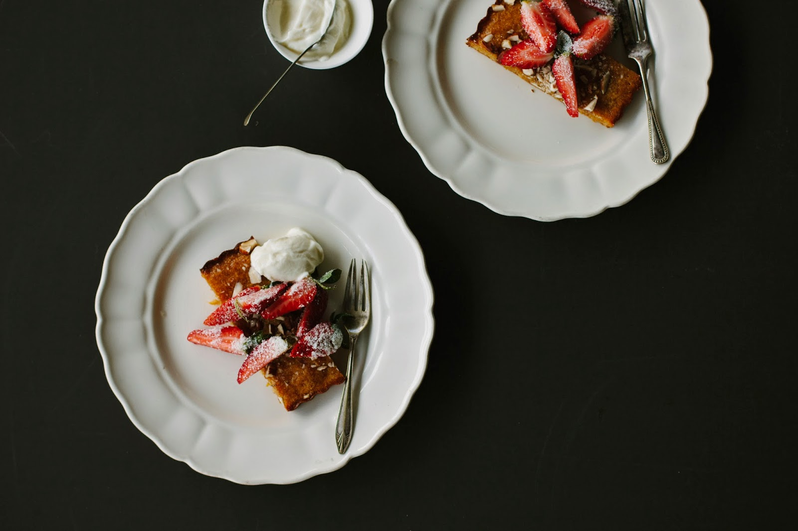 ... strawberries toasted almond cake with strawberries in rose water syrup
