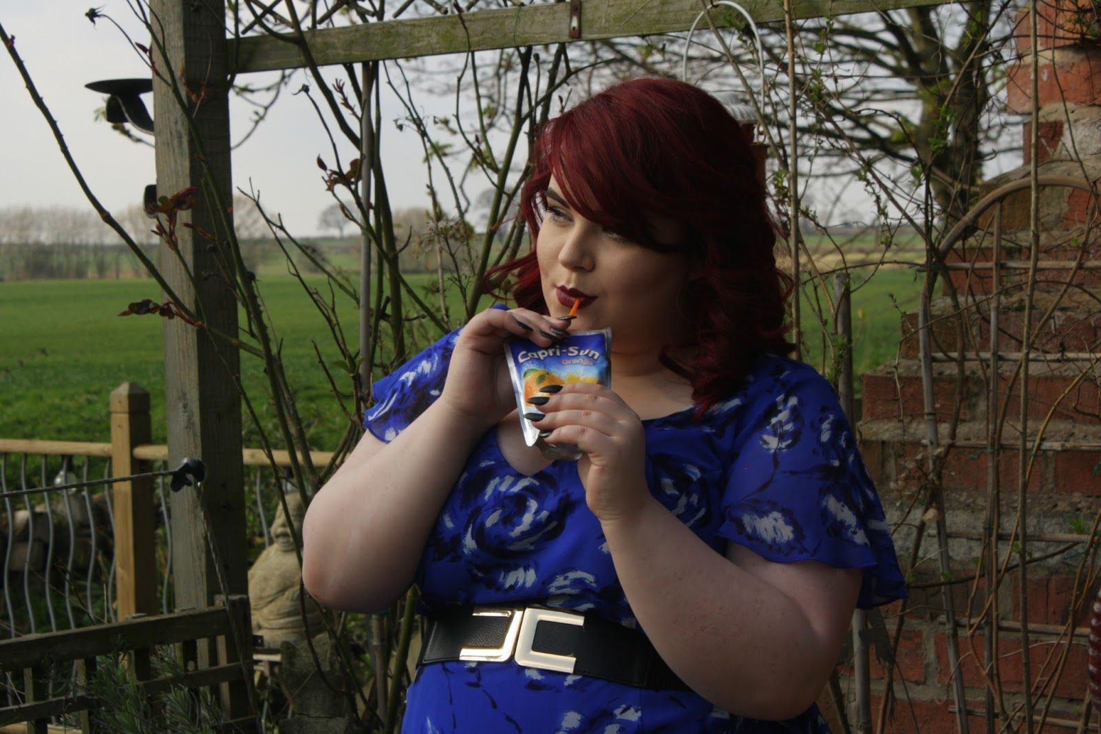 Scarlett And Jo Blue Print Maxi Dress, georgina grogan, shemightbeloved, sheffield plus size blogger