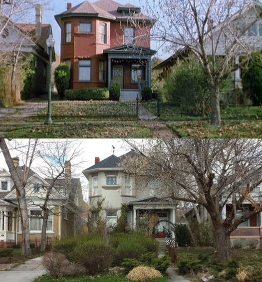 Then now movie locations halloween 4 the return of for Www the house com returns