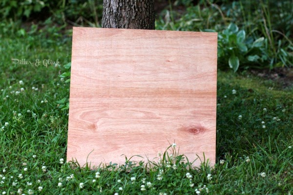 Use plywood to create an inexpensive DIY reversible photo backdrop!  PitterandGlink.com