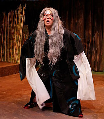 Katie Bradley in Japanese-inspired costume as the witch