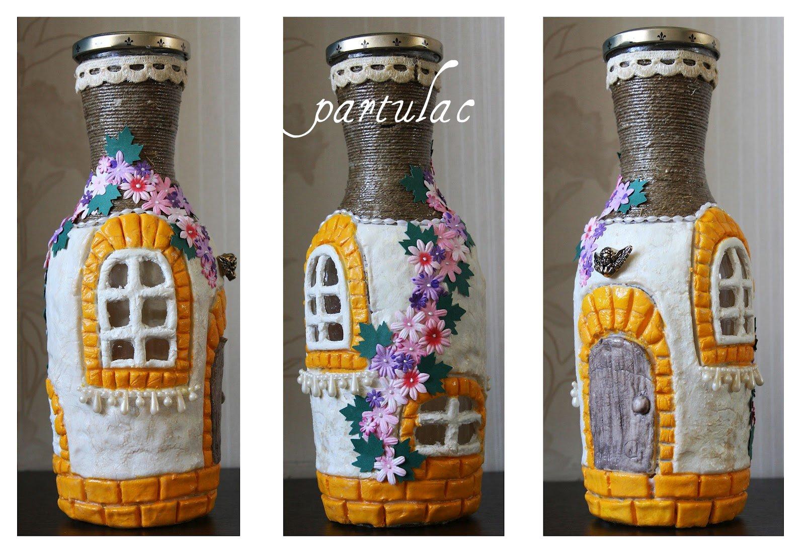 Поделки из бутылок своими руками для дома фото
