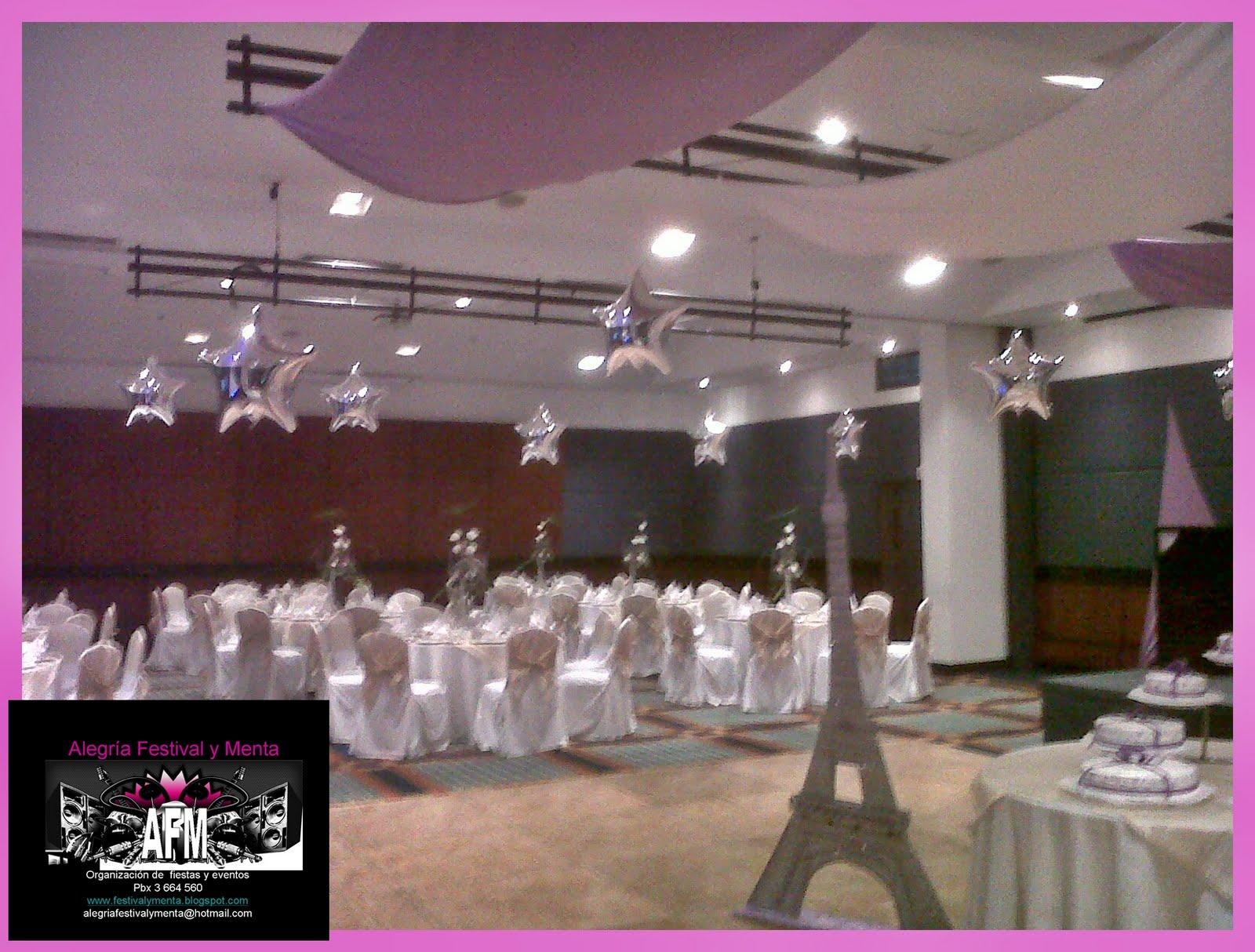 Alegria festival y menta bodas 15 a os fiesta tematica paris for Decoracion bodas