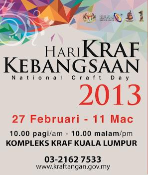Jumpa kami di Hari Kraf Kebangsaan 2013. Nombor gerai: MP 15