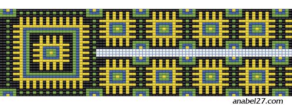 схема гердана гайтана станочное ткачество бисер бисероплетение орнамент
