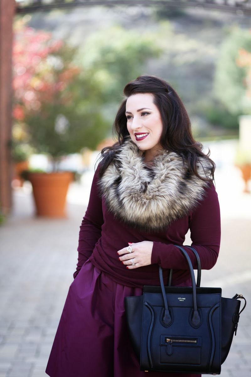 jcrew-purple-silk-party-dress-faux-fur-scarf-king-and-kind-blog-winter-outfit-idea-holiday-style-san-diego-blogger