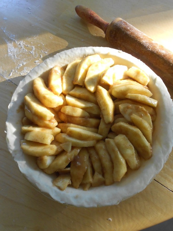 toss apples in mixture