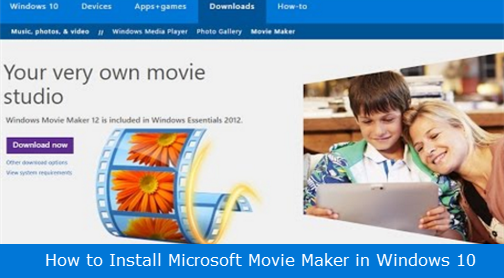 How to Install Microsoft Movie Maker in Windows 10