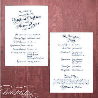 printable diagonal script wedding program design quatrefoil pattern