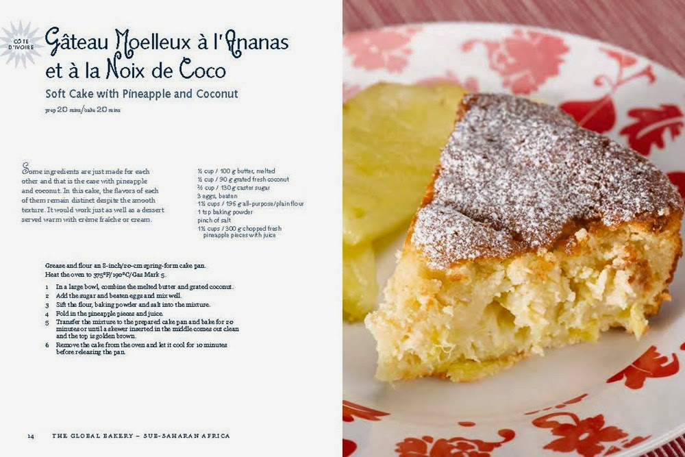 The Global Bakery sample french coconut/pineapple cake1