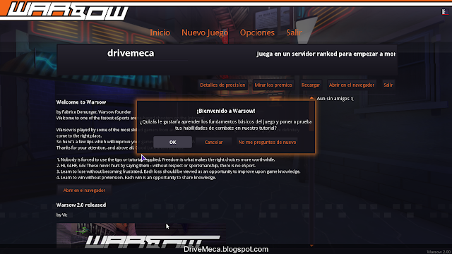 DriveMeca instalando Warsog 2 paso a paso