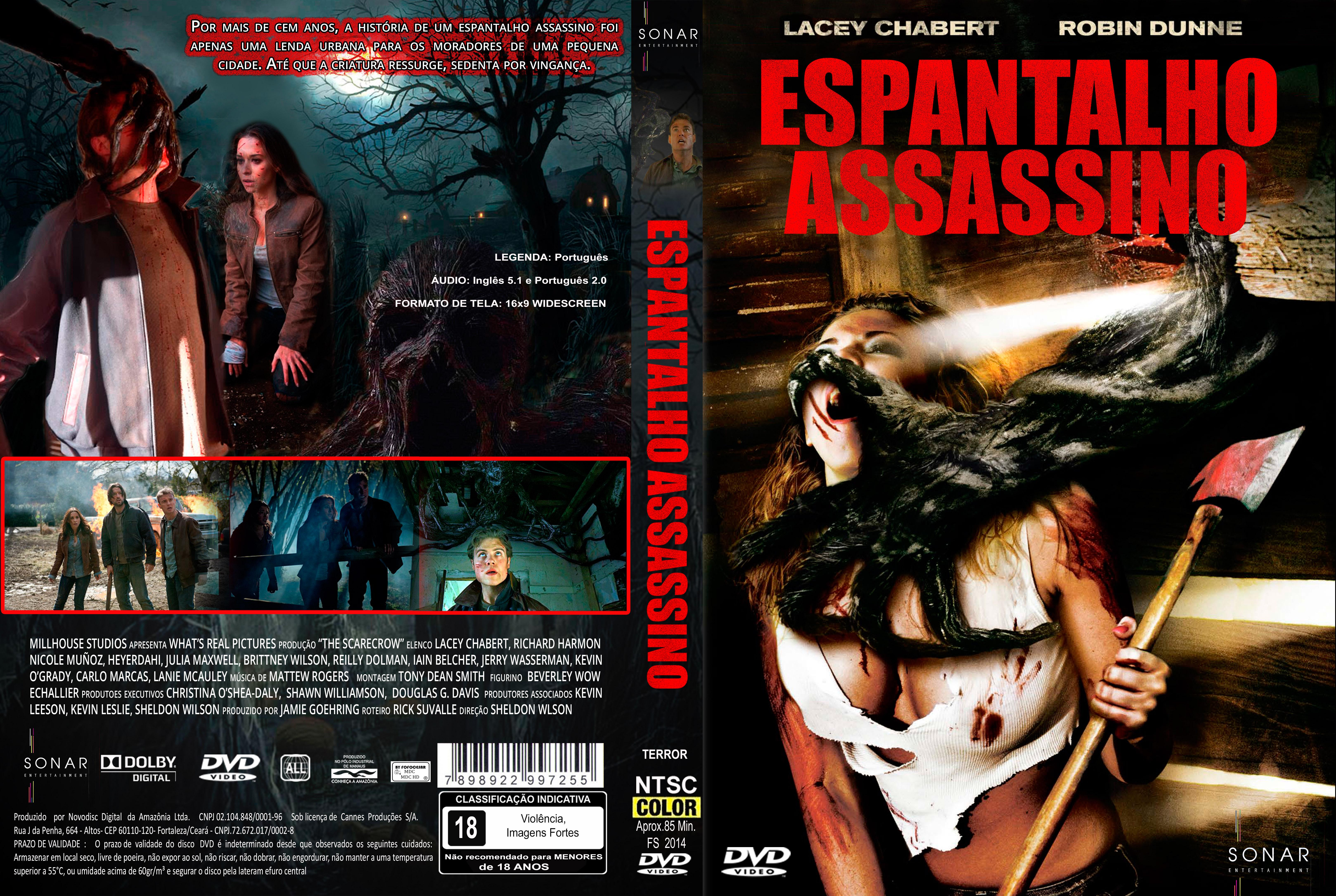 Capa DVD Espantalho Assassino