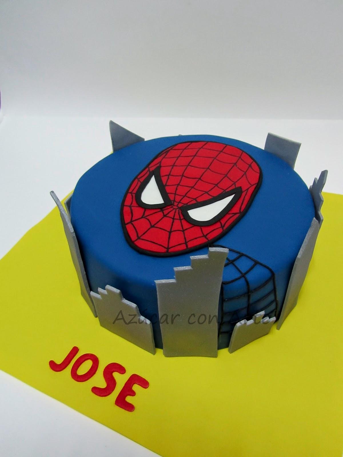 spideman cake, tarta spiderman, tarta sin gluten, gluten free cake | azucar con arte