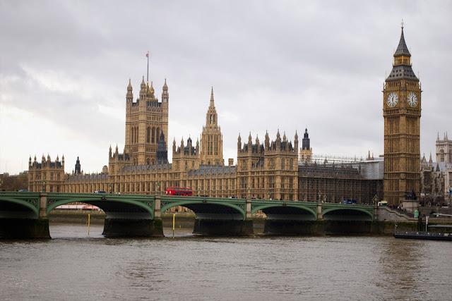 El Palacio de Westminster en Londres