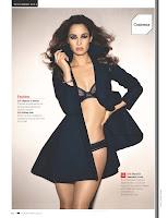 Berenice Marlohe strikes a pose in black lingerie